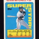 1990 Topps Sticker Backs Baseball #17 Kevin Mitchell - San Francisco Giants