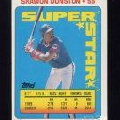 1990 Topps Sticker Backs Baseball #10 Shawon Dunston - Chicago Cubs