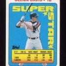 1990 Topps Sticker Backs Baseball #02 Glenn Davis - Houston Astros