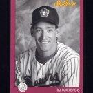 1991 Studio Baseball #078 B.J. Surhoff - Milwaukee Brewers