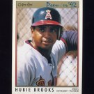1992 O-Pee-Chee Premier Baseball #198 Hubie Brooks - California Angels