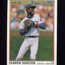 1992 O-Pee-Chee Premier Baseball #125 Shawon Dunston - Chicago Cubs
