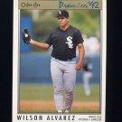 1992 O-Pee-Chee Premier Baseball #122 Wilson Alvarez - Chicago White Sox