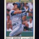 1992 O-Pee-Chee Premier Baseball #116 Kelly Gruber - Toronto Blue Jays