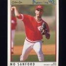 1992 O-Pee-Chee Premier Baseball #017 Mo Sanford - Cincinnati Reds
