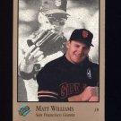 1992 Studio Baseball #120 Matt Williams - San Francisco Giants