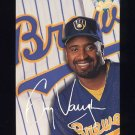 1993 Studio Baseball #197 Greg Vaughn - Milwaukee Brewers