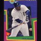 1993 Upper Deck Fun Pack Baseball #186 Cecil Fielder - Detroit Tigers