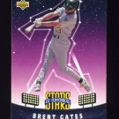 1993 Upper Deck Fun Pack Baseball #002 Brent Gates - Oakland Athletics