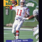 1995 Collector's Choice Football #038 Drew Bledsoe - New England Patriots