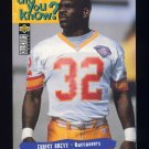 1995 Collector's Choice Football #037 Errict Rhett - Tampa Bay Buccaneers