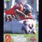 1995 Classic NFL Rookies Football #082 Melvin Johnson - Tampa Bay Buccaneers