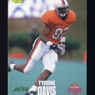 1995 Classic NFL Rookies Football #079 Tyrone Davis - New York Jets