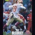 1995 Classic NFL Rookies Football #073 Kez McCorvey - Detroit Lions