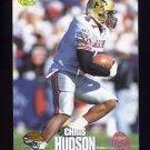1995 Classic NFL Rookies Football #051 Chris Hudson - Jacksonville Jaguars