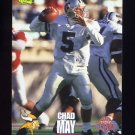 1995 Classic NFL Rookies Football #034 Chad May - Minnesota Vikings