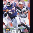 1995 Classic NFL Rookies Football #006 Kevin Carter - St. Louis Rams