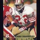 1994 Bowman Football #378 Tyronne Drakeford RC - San Francisco 49ers