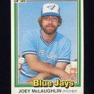 1981 Donruss Baseball #271 Joey McLaughlin - Toronto Blue Jays NM-M