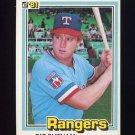1981 Donruss Baseball #265 Pat Putnam - Texas Rangers NM-M