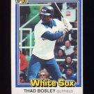 1981 Donruss Baseball #162 Thad Bosley - Chicago White Sox