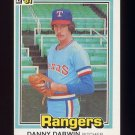 1981 Donruss Baseball #147 Danny Darwin - Texas Rangers ExMt