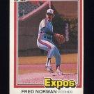 1981 Donruss Baseball #092 Fred Norman - Montreal Expos