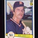 1982 Donruss Baseball #583 Rick Leach - Detroit Tigers