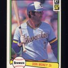 1982 Donruss Baseball #384 Don Money - Milwaukee Brewers