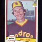 1982 Donruss Baseball #296 Gary Lucas - San Diego Padres