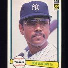 1982 Donruss Baseball #108 Bob Watson - New York Yankees