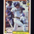 1982 Donruss Baseball #055 Joe Simpson - Seattle Mariners