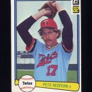 1982 Donruss Baseball #051 Pete Redfern - Minnesota Twins