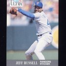 1991 Ultra Baseball #354 Jeff Russell - Texas Rangers