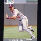1991 Ultra Baseball #103 Carlos Baerga - Cleveland Indians