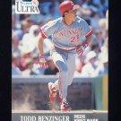 1991 Ultra Baseball #087 Todd Benzinger - Cincinnati Reds