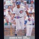 1991 Ultra Baseball #065 Derrick May - Chicago Cubs