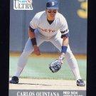 1991 Ultra Baseball #039 Carlos Quintana - Boston Red Sox