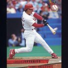 1993 Ultra Baseball #463 Gregg Jefferies - St. Louis Cardinals