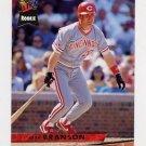 1993 Ultra Baseball #027 Jeff Branson - Cincinnati Reds