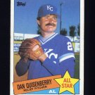 1985 Topps Baseball #711 Dan Quisenberry AS - Kansas City Royals