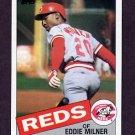 1985 Topps Baseball #198 Eddie Milner - Cincinnati Reds