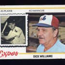 1978 Topps Baseball #522 Dick Williams MG - Montreal Expos