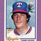 1978 Topps Baseball #518 Tommy Boggs - Texas Rangers