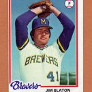 1978 Topps Baseball #474 Jim Slaton - Milwaukee Brewers