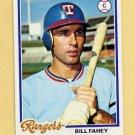 1978 Topps Baseball #388 Bill Fahey - Texas Rangers VgEx