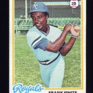 1978 Topps Baseball #248 Frank White - Kansas City Royals