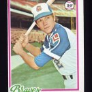 1978 Topps Baseball #242 Barry Bonnell RC - Atlanta Braves