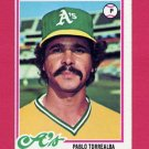 1978 Topps Baseball #078 Pablo Torrealba - Oakland A's