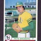 1979 Topps Baseball #578 Pete Broberg - Oakland A's